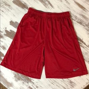Nike Dri Fit Red Athletic Shorts Men's Large